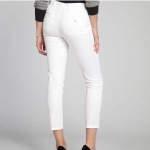 PRADA Milano | White cropped skinny trousers